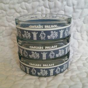 3pc Vintage Caesars Palace Las Vegas Blue Astray